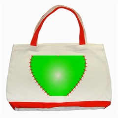 Heart Rhythm Inner Green Red Classic Tote Bag (Red)