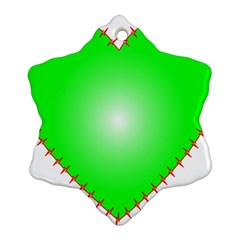 Heart Rhythm Inner Green Red Ornament (Snowflake)