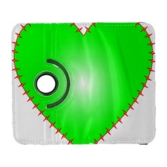 Heart Rhythm Inner Green Red Galaxy S3 (Flip/Folio)
