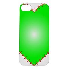 Heart Rhythm Inner Green Red Apple iPhone 5S/ SE Hardshell Case