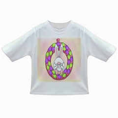 Make An Easter Egg Wreath Rabbit Face Cute Pink White Infant/Toddler T-Shirts