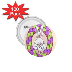 Make An Easter Egg Wreath Rabbit Face Cute Pink White 1.75  Buttons (100 pack)