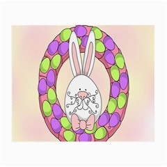 Make An Easter Egg Wreath Rabbit Face Cute Pink White Small Glasses Cloth
