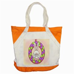 Make An Easter Egg Wreath Rabbit Face Cute Pink White Accent Tote Bag