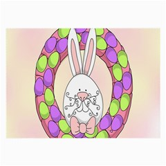 Make An Easter Egg Wreath Rabbit Face Cute Pink White Large Glasses Cloth