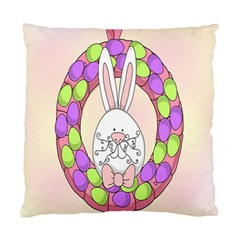 Make An Easter Egg Wreath Rabbit Face Cute Pink White Standard Cushion Case (One Side)