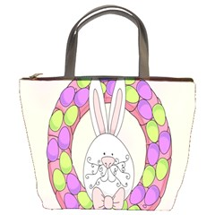 Make An Easter Egg Wreath Rabbit Face Cute Pink White Bucket Bags