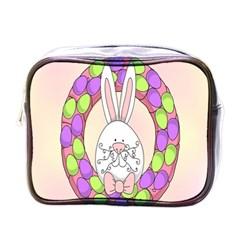 Make An Easter Egg Wreath Rabbit Face Cute Pink White Mini Toiletries Bags