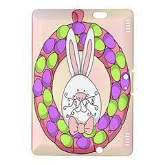 Make An Easter Egg Wreath Rabbit Face Cute Pink White Kindle Fire HDX 8.9  Hardshell Case