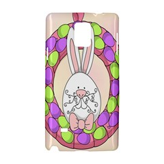 Make An Easter Egg Wreath Rabbit Face Cute Pink White Samsung Galaxy Note 4 Hardshell Case