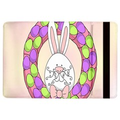 Make An Easter Egg Wreath Rabbit Face Cute Pink White iPad Air 2 Flip