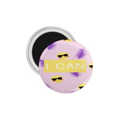 I Can Purple Face Smile Mask Tree Yellow 1.75  Magnets