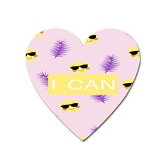 I Can Purple Face Smile Mask Tree Yellow Heart Magnet
