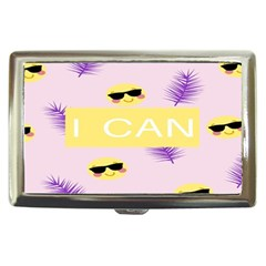 I Can Purple Face Smile Mask Tree Yellow Cigarette Money Cases