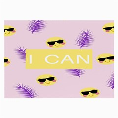 I Can Purple Face Smile Mask Tree Yellow Large Glasses Cloth (2-Side)
