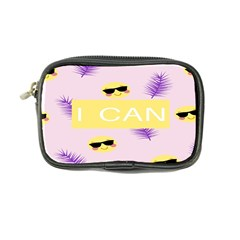 I Can Purple Face Smile Mask Tree Yellow Coin Purse