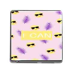 I Can Purple Face Smile Mask Tree Yellow Memory Card Reader (Square)