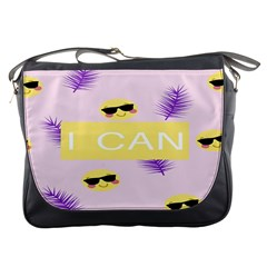 I Can Purple Face Smile Mask Tree Yellow Messenger Bags