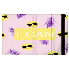 I Can Purple Face Smile Mask Tree Yellow Apple iPad 2 Flip Case