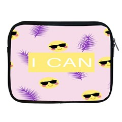 I Can Purple Face Smile Mask Tree Yellow Apple iPad 2/3/4 Zipper Cases