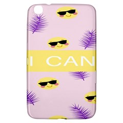 I Can Purple Face Smile Mask Tree Yellow Samsung Galaxy Tab 3 (8 ) T3100 Hardshell Case