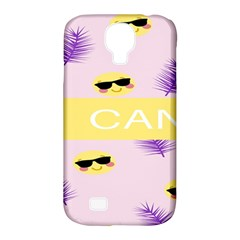 I Can Purple Face Smile Mask Tree Yellow Samsung Galaxy S4 Classic Hardshell Case (pc+silicone)