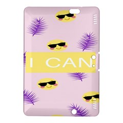 I Can Purple Face Smile Mask Tree Yellow Kindle Fire HDX 8.9  Hardshell Case