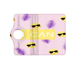 I Can Purple Face Smile Mask Tree Yellow Kindle Fire HD (2013) Flip 360 Case