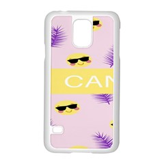 I Can Purple Face Smile Mask Tree Yellow Samsung Galaxy S5 Case (White)