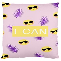 I Can Purple Face Smile Mask Tree Yellow Standard Flano Cushion Case (One Side)