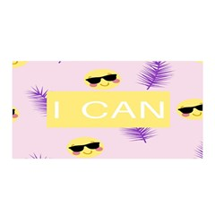 I Can Purple Face Smile Mask Tree Yellow Satin Wrap