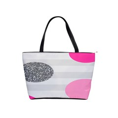 Polkadot Circle Round Line Red Pink Grey Diamond Shoulder Handbags