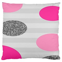Polkadot Circle Round Line Red Pink Grey Diamond Large Cushion Case (One Side)