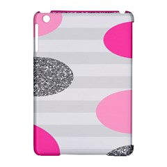 Polkadot Circle Round Line Red Pink Grey Diamond Apple iPad Mini Hardshell Case (Compatible with Smart Cover)