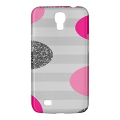 Polkadot Circle Round Line Red Pink Grey Diamond Samsung Galaxy Mega 6.3  I9200 Hardshell Case