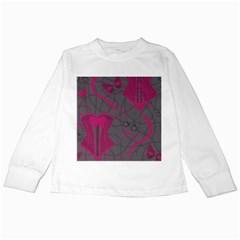 Pink Black Handcuffs Key Iron Love Grey Mask Sexy Kids Long Sleeve T-Shirts