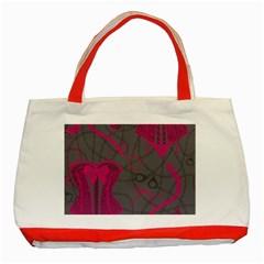 Pink Black Handcuffs Key Iron Love Grey Mask Sexy Classic Tote Bag (Red)