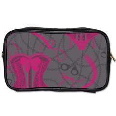 Pink Black Handcuffs Key Iron Love Grey Mask Sexy Toiletries Bags