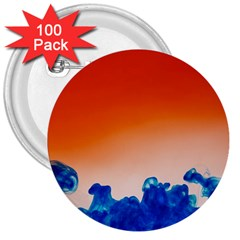 Simulate Weather Fronts Smoke Blue Orange 3  Buttons (100 pack)