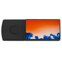 Simulate Weather Fronts Smoke Blue Orange USB Flash Drive Rectangular (1 GB)
