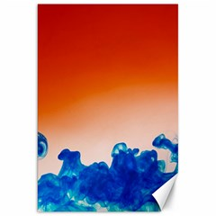 Simulate Weather Fronts Smoke Blue Orange Canvas 20  x 30