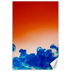 Simulate Weather Fronts Smoke Blue Orange Canvas 24  x 36