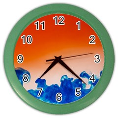 Simulate Weather Fronts Smoke Blue Orange Color Wall Clocks