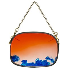 Simulate Weather Fronts Smoke Blue Orange Chain Purses (One Side)