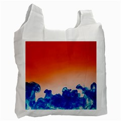 Simulate Weather Fronts Smoke Blue Orange Recycle Bag (Two Side)