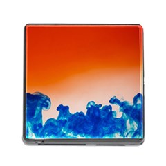 Simulate Weather Fronts Smoke Blue Orange Memory Card Reader (Square)