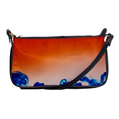 Simulate Weather Fronts Smoke Blue Orange Shoulder Clutch Bags