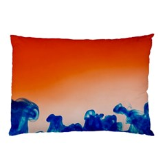 Simulate Weather Fronts Smoke Blue Orange Pillow Case (Two Sides)