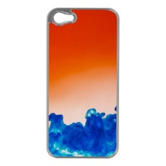Simulate Weather Fronts Smoke Blue Orange Apple iPhone 5 Case (Silver)