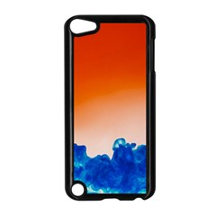 Simulate Weather Fronts Smoke Blue Orange Apple iPod Touch 5 Case (Black)
